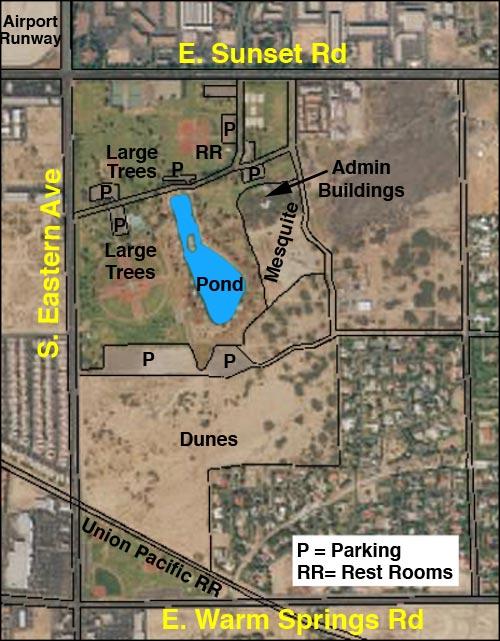 Birding Around Las Vegas Sunset Park Site Map